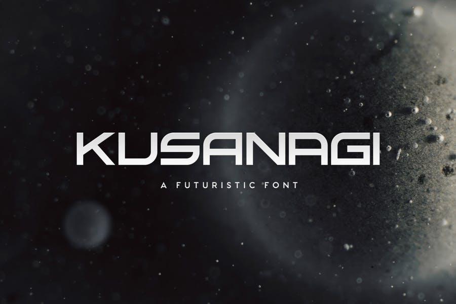 Wide Futuristic Font