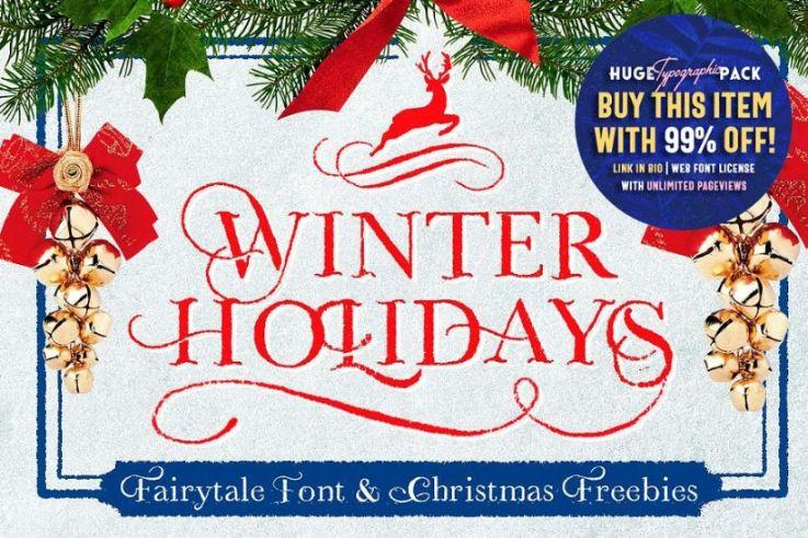 Winter Holidays Christamas Fonts