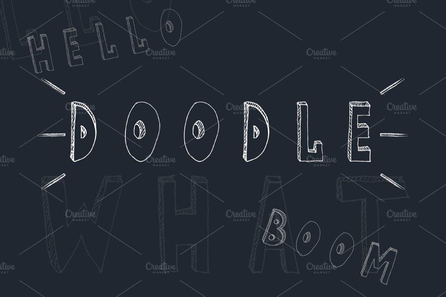 Chalk Style Doodle Fonts
