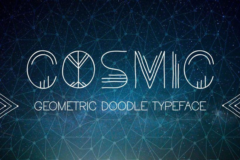 Ethnic Geometric Doodle Fonts