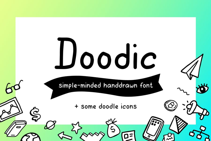 Fonts with Doodle Icons