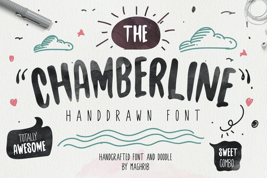 Handcrafted Funny Doodle Font