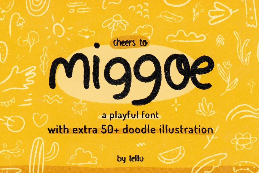 Playful Doodle Illustration Fonts