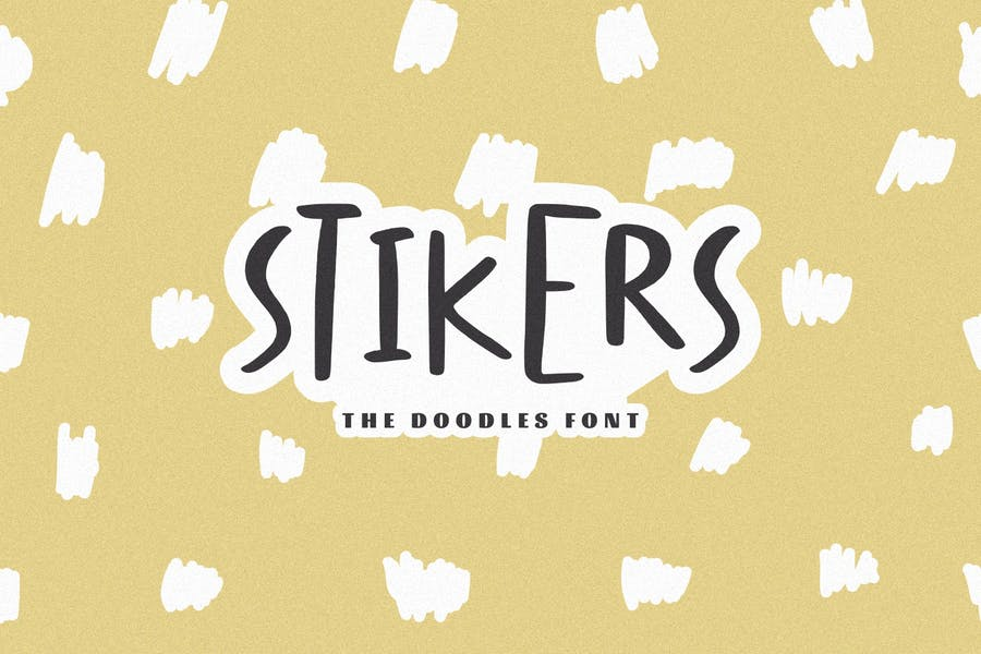Stickers Styled Doodle Fonts