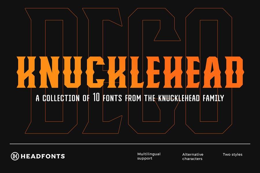 10 Creative Knucklehead Fonts