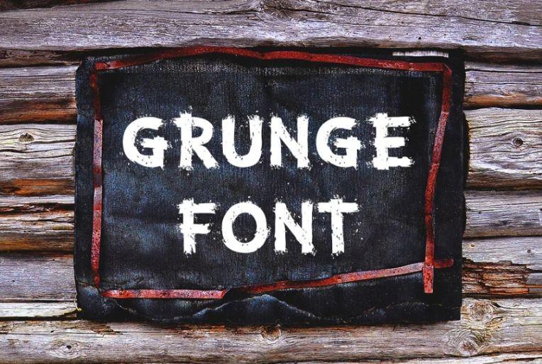 12 White Grunge Branding Fonts