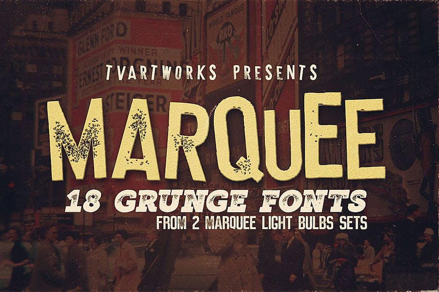 18 Grunge Style Display fonts