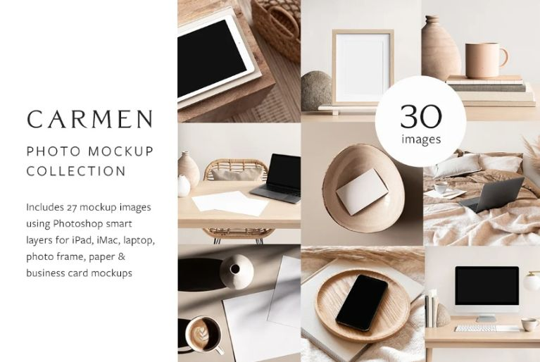 30 Photo Mockup PSD Collections