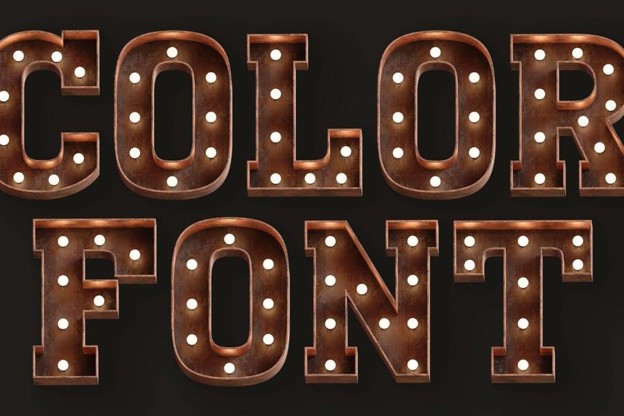3D Decorative SVG Fonts