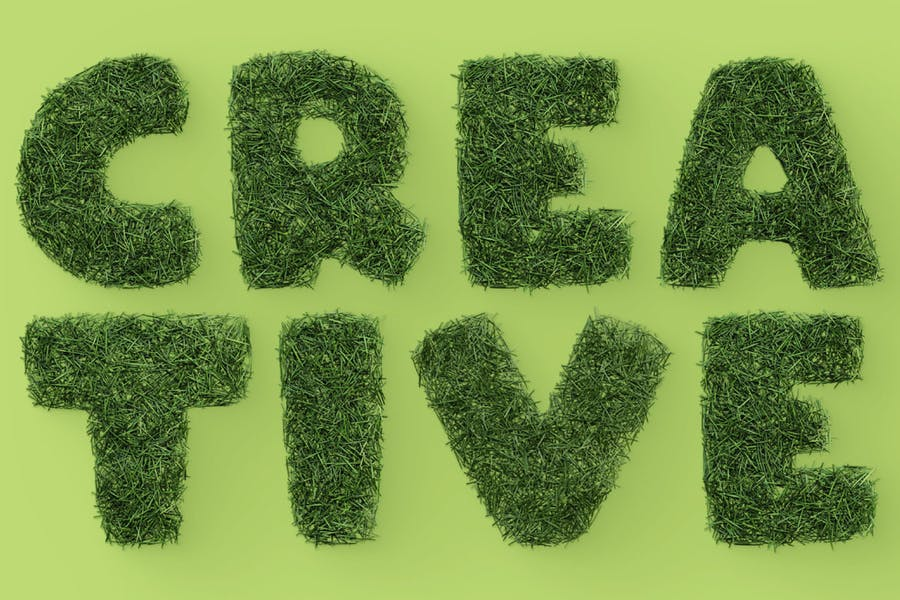3D Grass Style Fonts