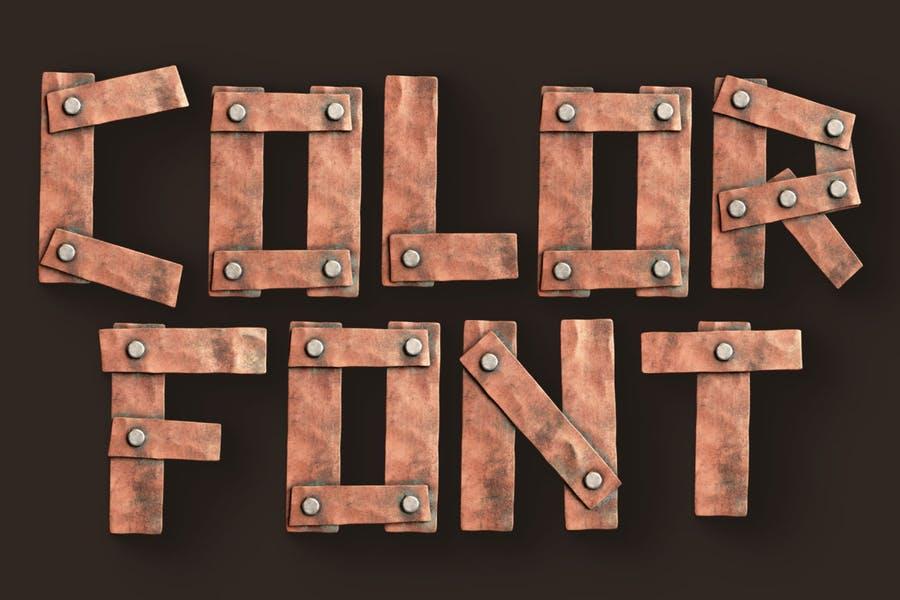 3D Metalic Opentype Fonts