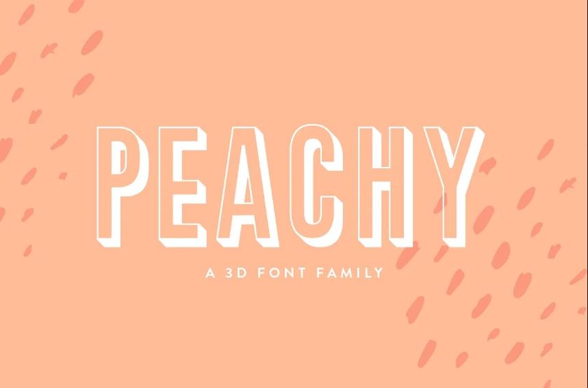 3D Peachy Font Family OTF
