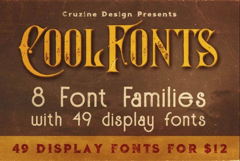 49 Grunge Display Fonts
