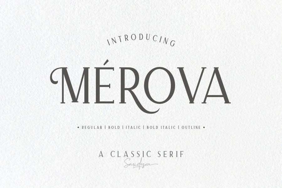 5 Classic and Elegant Serif Fonts