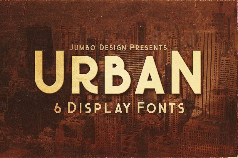 6 Urban Display Typeface