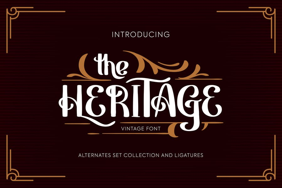 Beautiful Vintage Calligraphy Fonts