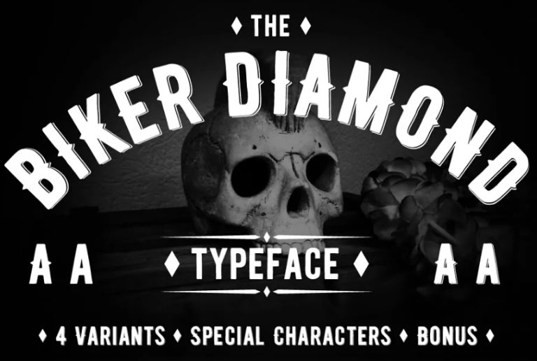 Best Biker Display Typeface