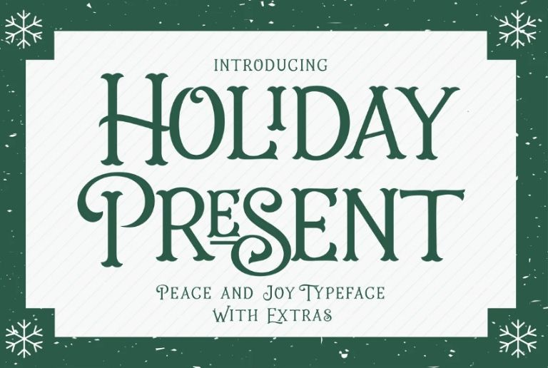 Best Holiday Present Font