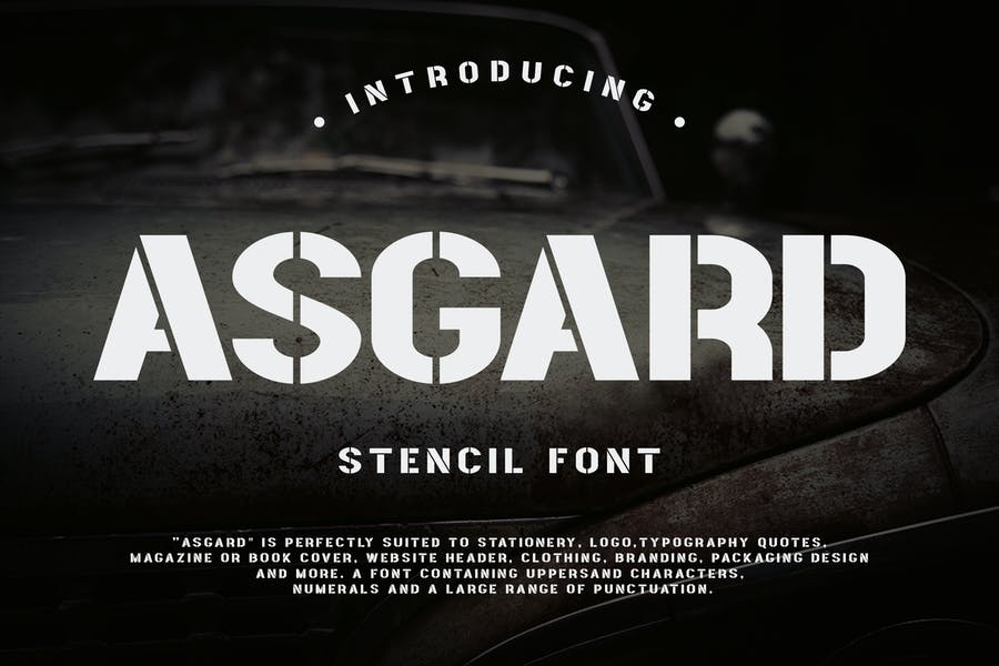 Bold Stencil Styled Fonts