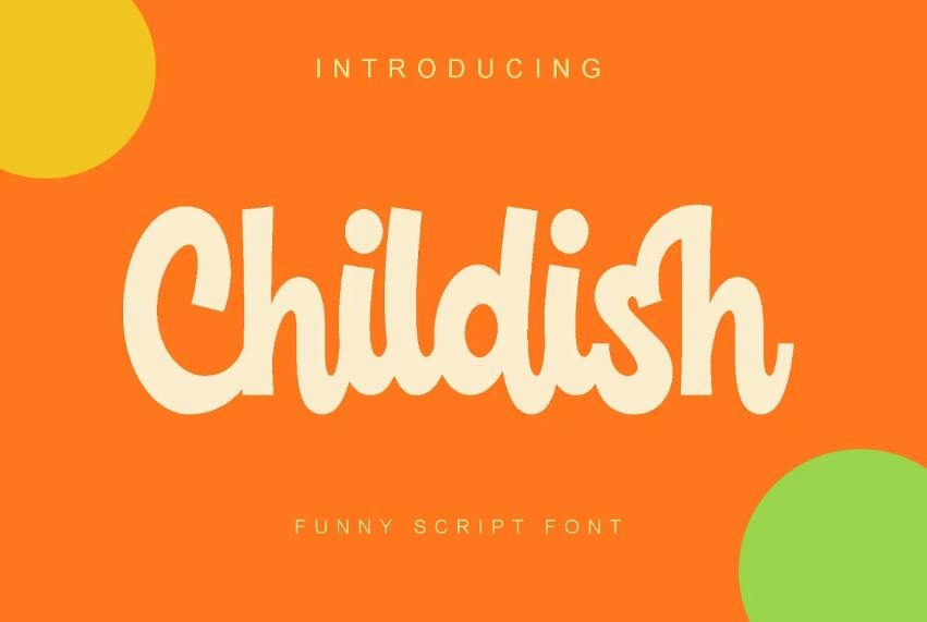 Childish Funny Script Fonts