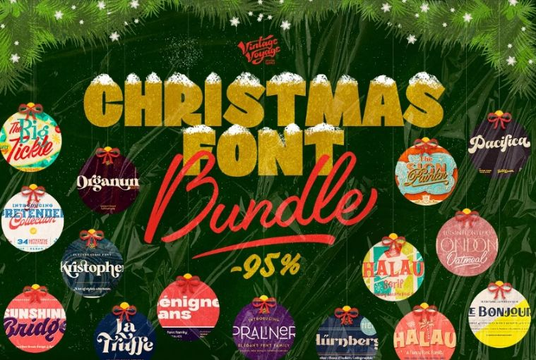 Christmas Styled Font Bundle