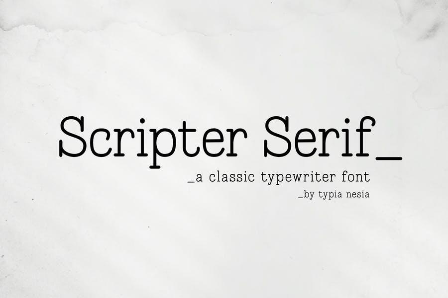 Classic Typewriter Script Fonts