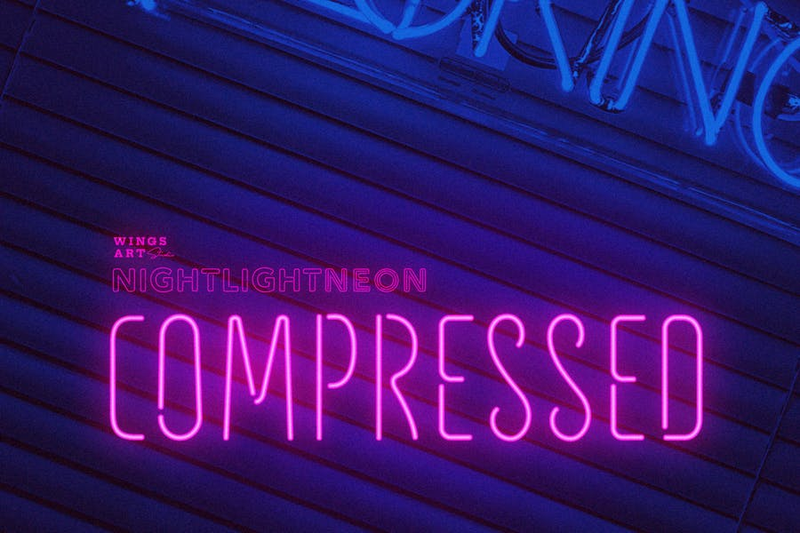 Compressed Neon Light Fonts