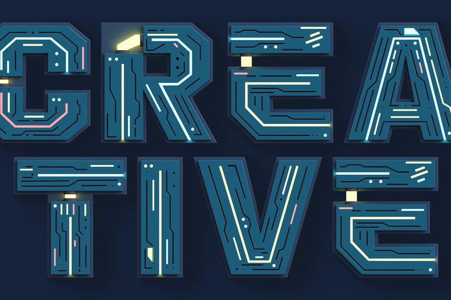 Creative 3D Sci Fi Fonts