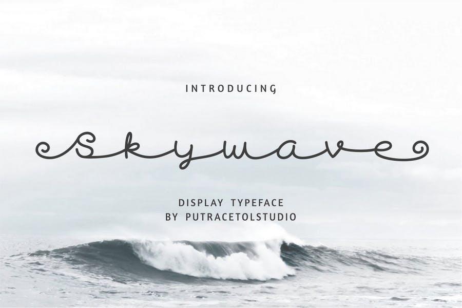 Creative Cursive Display Typeface