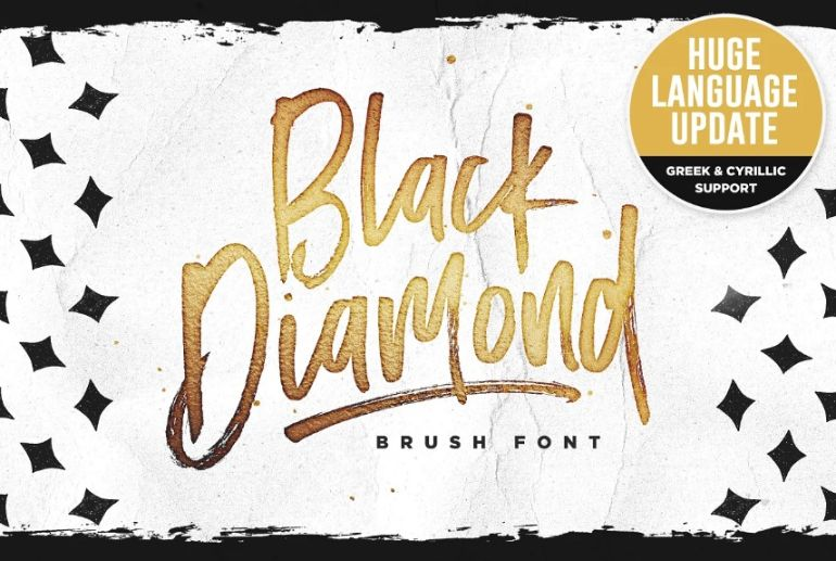 Creative Diamond Brush Fonts