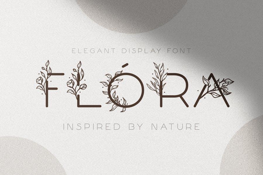 Creative Floral Fonts