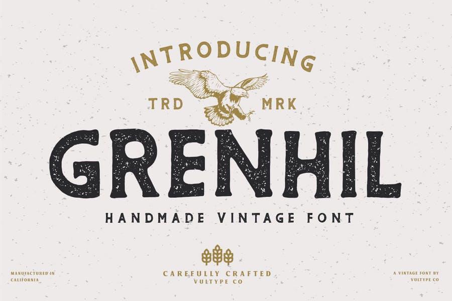 Creative Handmade Vintage Typeface