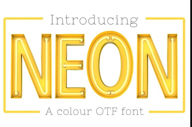 Creative Neon OTF Color Font