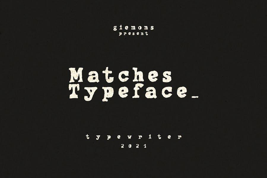 Creative Typewriter Branding Fonts