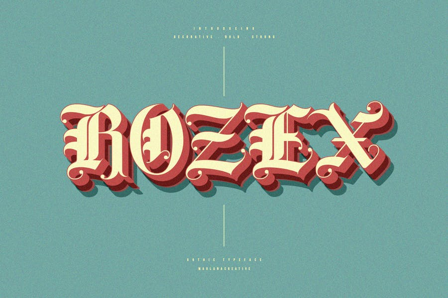 Creative and Decorative Gothic Fonts