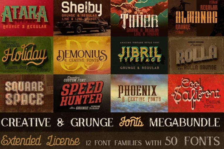 Creative and Grunge Mega bundle