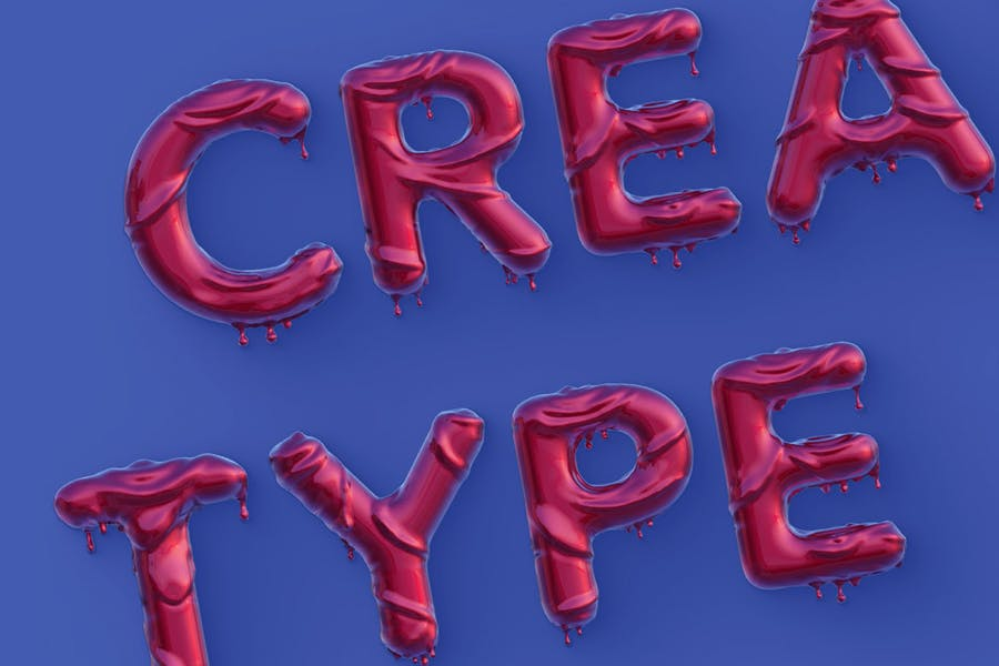 Dripping 3D Color Fonts