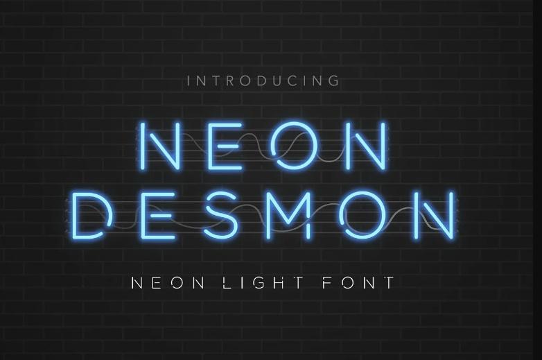 Elegant Neon Light fonts
