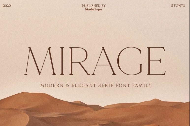 Elegant San Serif Font Family