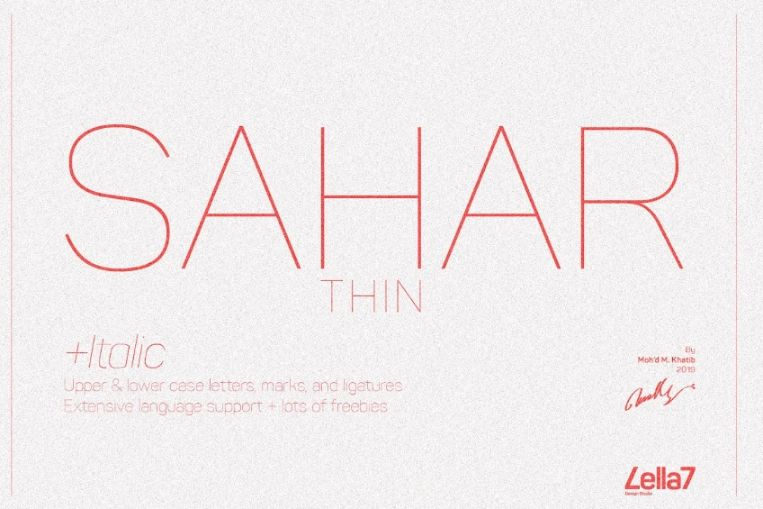 Elegant Thin and Light Fonts