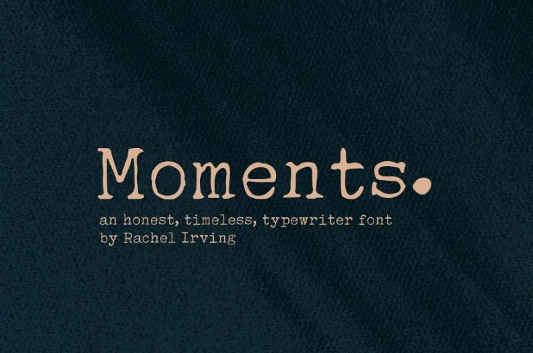 Elegant Typewriter Display Fonts