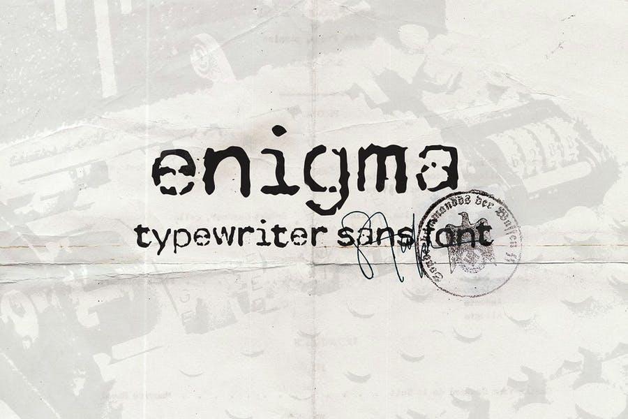 Enigmatic Typewriter Display Fonts