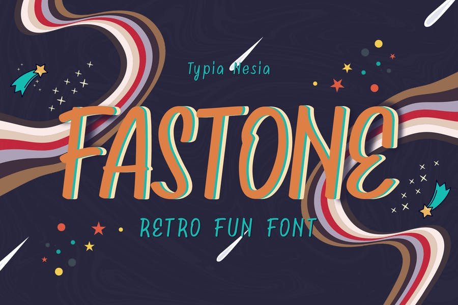 Fancy and Funny Retro Typeface