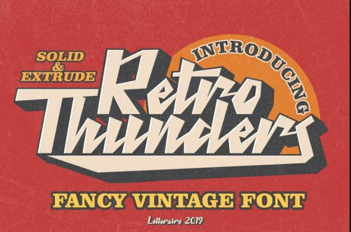 Fancy vintage Retro Fonts
