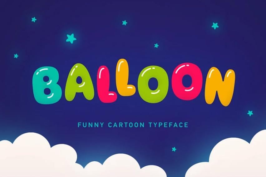 Funny Balloon Typeface