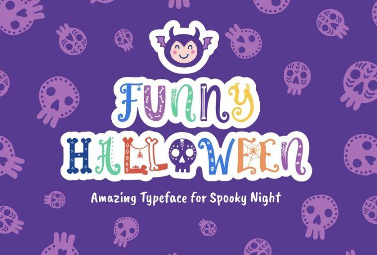 Funny Halloween Display Fonts