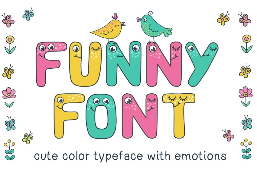 Funny and Cute Typeface