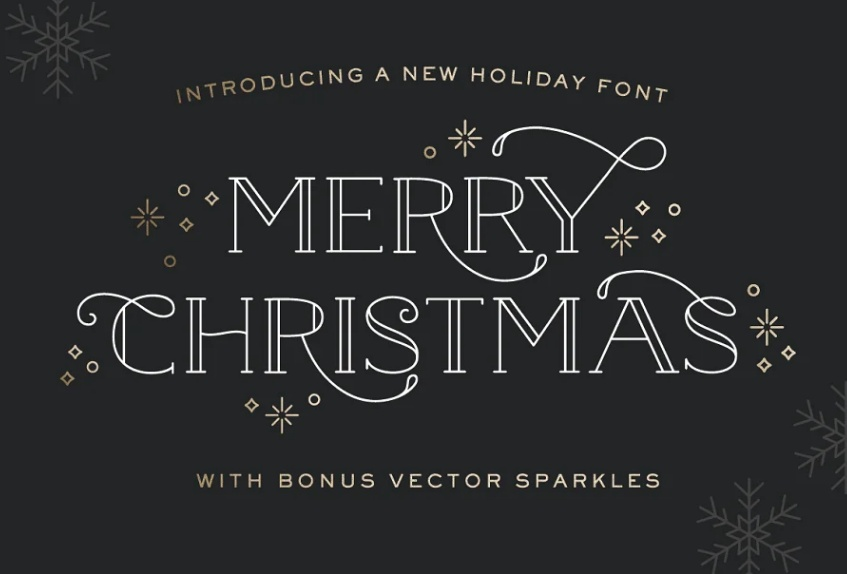 Gold Foil Textured Holiday Fonts