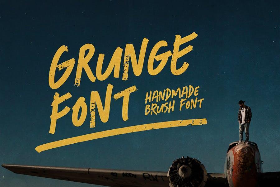 Grunge Themed Brush Font