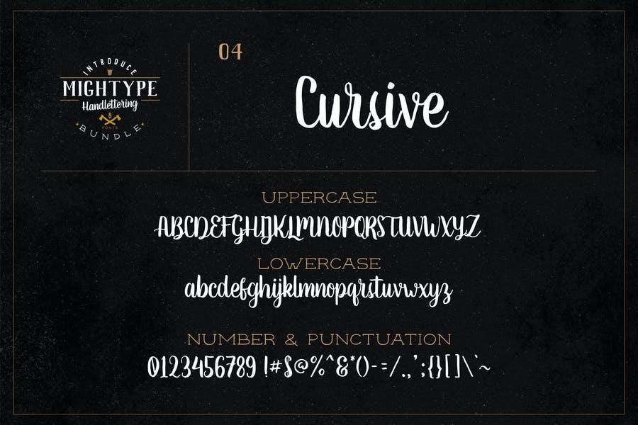 Hand Lettered Cursive Typeface